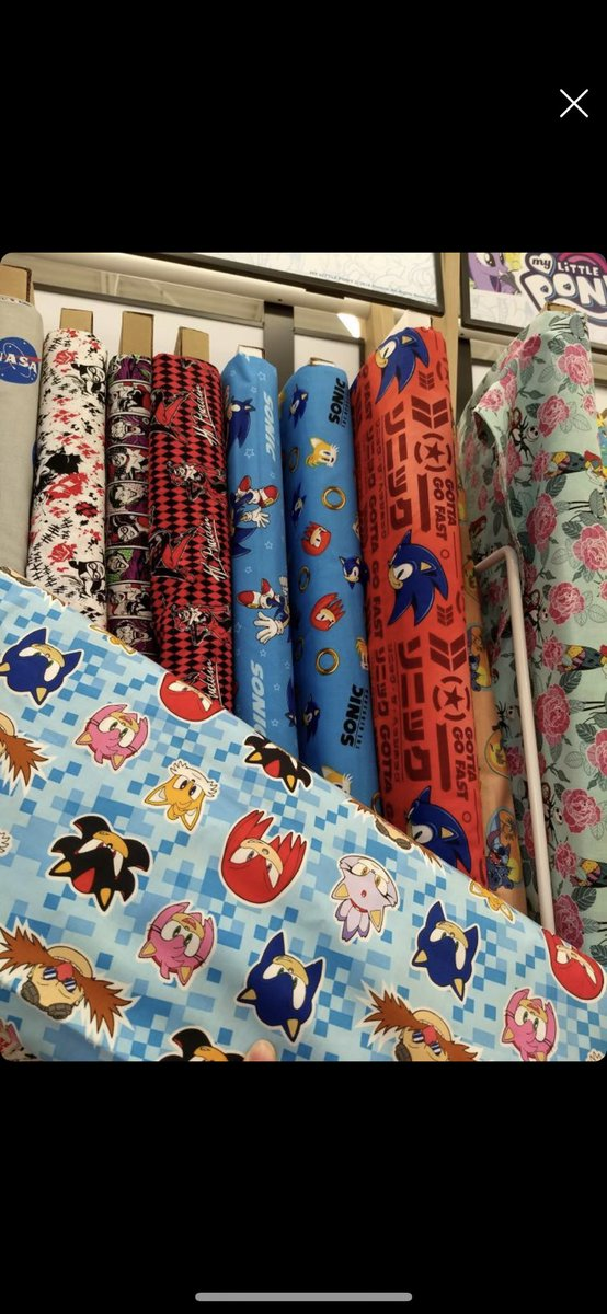 Treasurehuntingsonic On Twitter These Sonic Fabric Patterns Are Now Available At Joann Stores There Are 3 Different Patterns And One Even Features Characters Such As Blaze Amy Also They Re On Sale Right