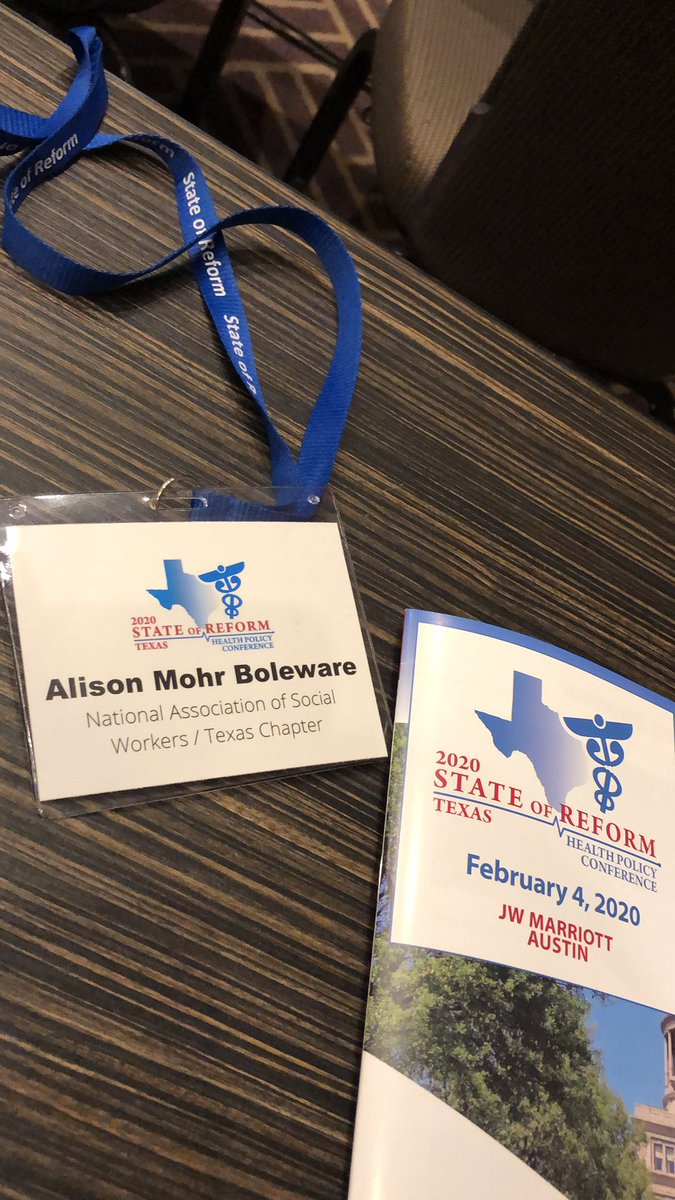 Excited for a day full of health policy at the 2020 State of Reform! #txlege #stateofreform