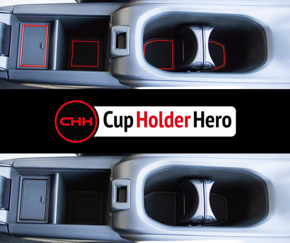 Premium Cup Holder Blue Trim SuperCab /– 4 Passenger CupHolderHero for Ford Ranger 2019-2020 Custom Liner Accessories and Door Pocket Inserts 13-pc Set Console