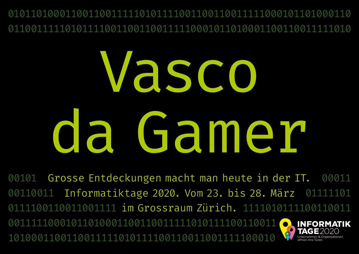 Unsere neue Kampagne ist jetzt online! • • https://informatiktage.ch • • •  #ITTage20 #informatik #it #zurich #digital #technic #event #technology #school #SmartCityZürich #vascodagamapic.twitter.com/una9NQnSr7