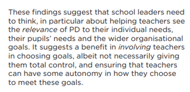 6) I particularly liked the nuanced consideration of the value and limits of autonomy in professional development