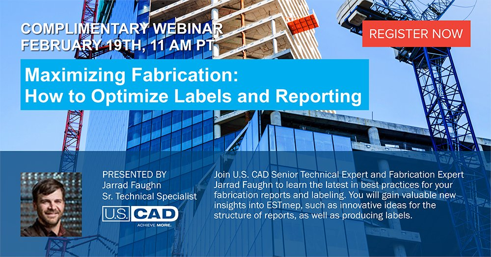 Image for the Tweet beginning: Upcoming U.S. CAD live webinar