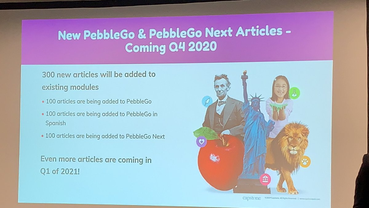 Learning what's new in #PebbleGo! #TCEA2020 @CapstonePub