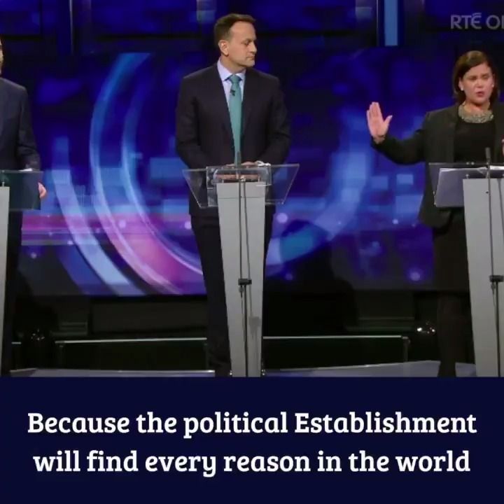 The reason there is an appetite for change is because citizens are fed-up watching the political Establishment find every reason in the world not to give workers and families a break. #GE2020 @MaryLouMcDonald #RTEPT #LeadersDebate