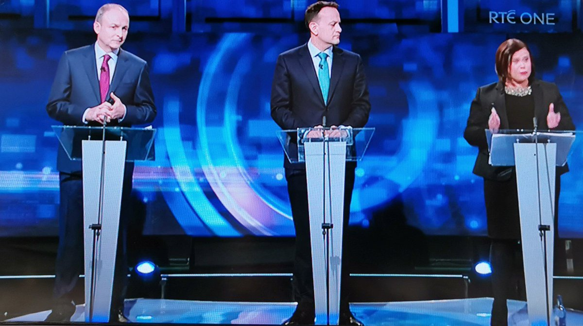 So... who do you think came out on top of that #LeadersDebate?  Like for Micheál Martin, retweet for Leo Varadkar, reply for Mary McDonald <br>http://pic.twitter.com/riluDftKph