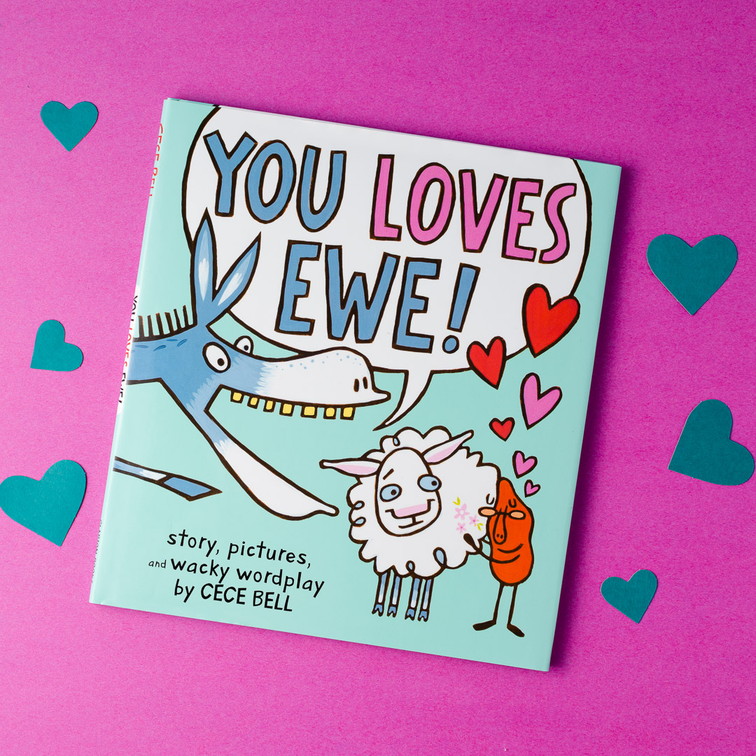 🤣A side-splittingly funny picture book about a silly donkey, a cranky yam, and an irresistible ewe, packed with hilarious homonyms and the distinctive humor of Newbery Honoree @CeceBellBooks #IHEARTPictureBooks #hmhkids #kidlit #valentinesday