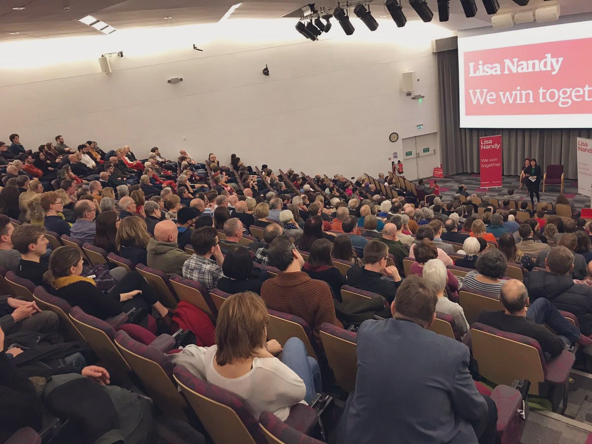 As is often the case, our members out in the country are way out ahead of Westminster - recognising that our Party and our country need a new kind of Leadership. Proud that so many came to Sheffield tonight to ask questions, listen to my plans and join that debate. #WeWinTogether