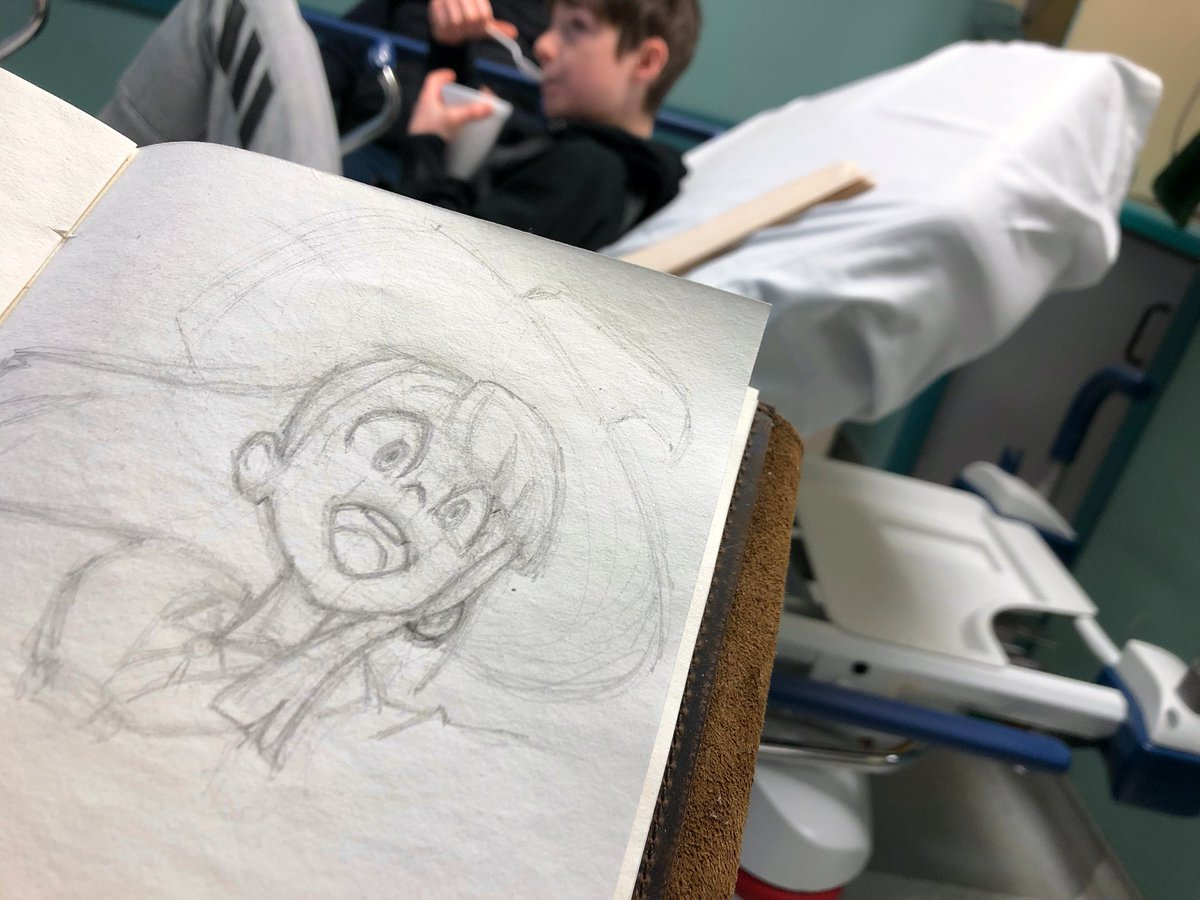 I hate Flu season. My baby boy went to the hospital with muscle spasms due to being sick. He's all better now, but while there he asked if I could draw him something we had watched together recently.   Sure thing buddy <3  #LittleWitchAcademia #anime #AnimeArt #momlife #momartist pic.twitter.com/sUTln2yQ6Z