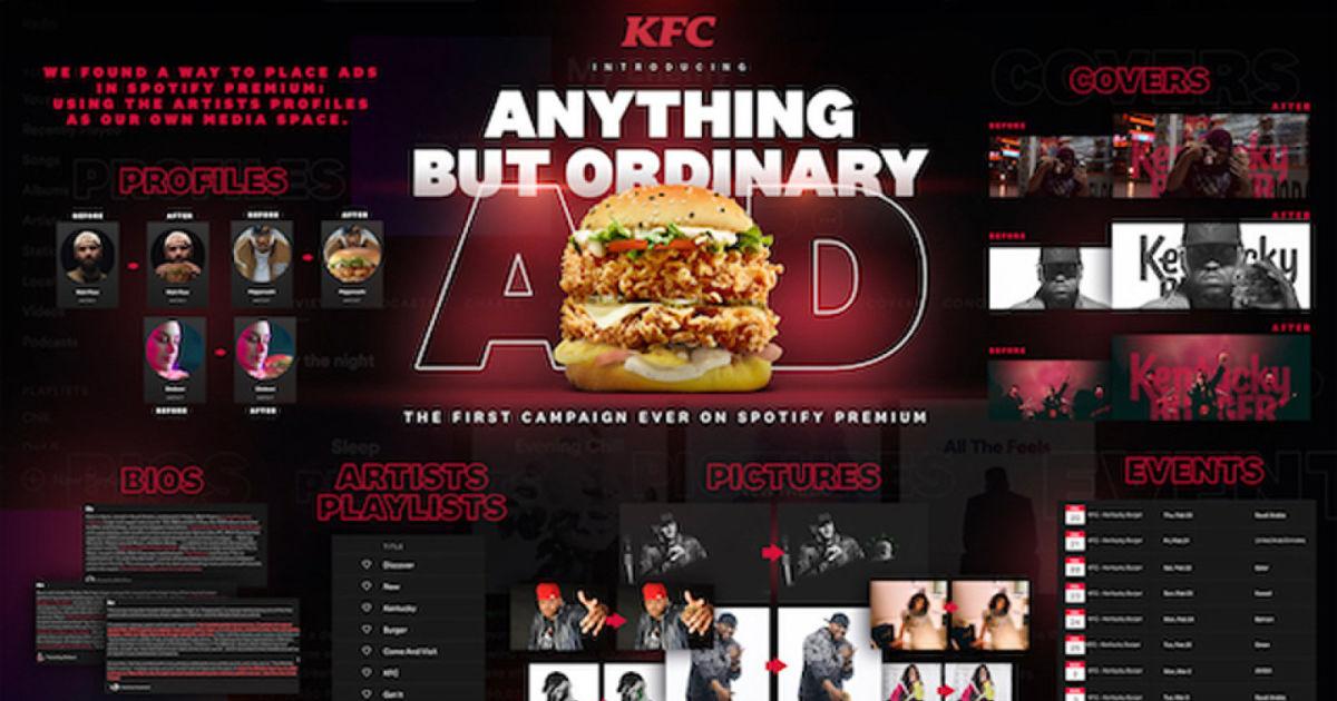 KFC slips ads into Spotify Premium through artist profiles