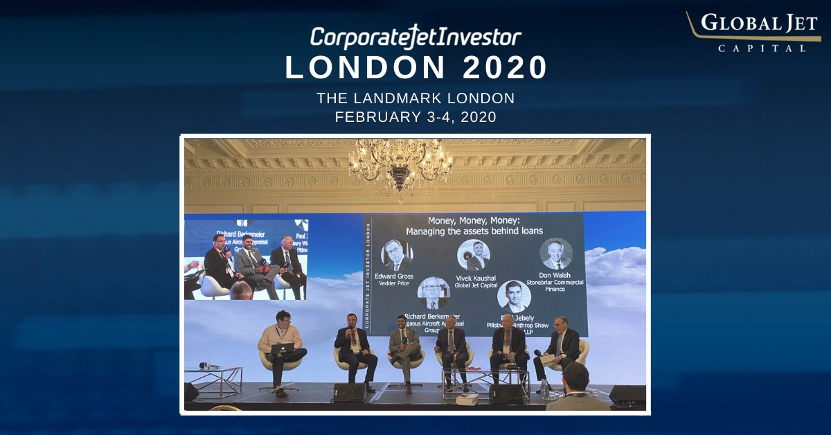 @CorpJetInvestor London 2020 is just wrapping up! The event was extremely productive with insightful panels on business aviation and industry concerns. Vivek Kaushal also shared his insight on 'Managing the Assets Behind Loans'. #cjilondon #cjilondon2020 #bizav