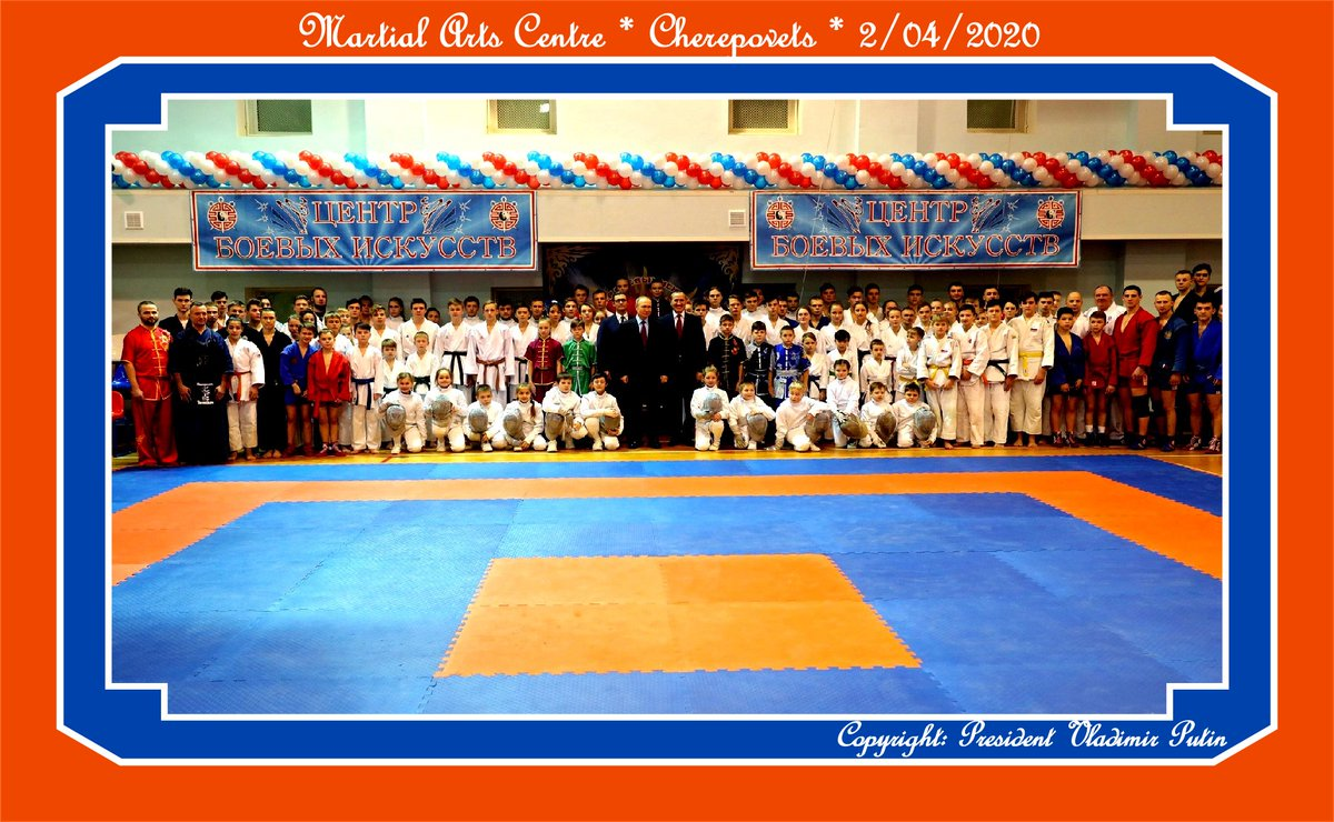 Visit to the Martial Arts Centre in #Cherepovets: http://bit.ly/31rqSOY   Copyright: President Vladimir Putin  7 fascinating photos to view. CLICK for Enlargement -  Special group of young people and instructors.pic.twitter.com/JsY0rhR4Vj