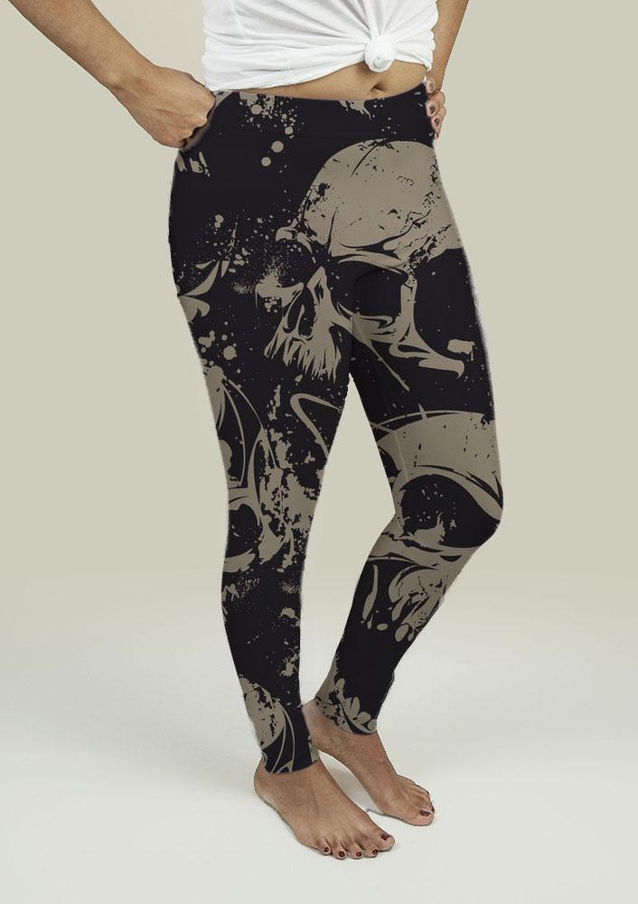 Leggings with Grunge Skulls is now available in our shop for only $38.49. Buy it now
