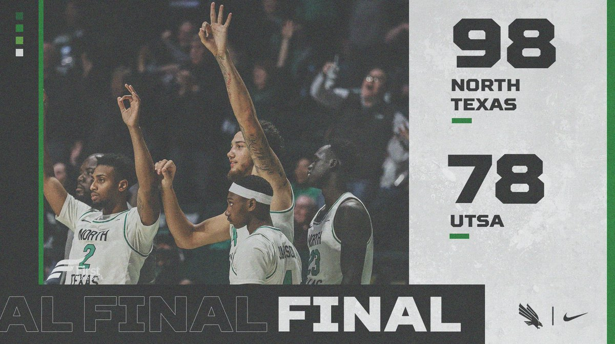 LIGHT THE TOWER!  Seventh win in a row!  Your Mean Green improve to 7-1 in conference!  Mo: 27 PTs Javion: 22 PTs, 5 ASTs Reese: 18 PTs Zach: 13 PTs T Bell: 11 PTs, 15 REBs #GMG<br>http://pic.twitter.com/QlkkFvn9vE