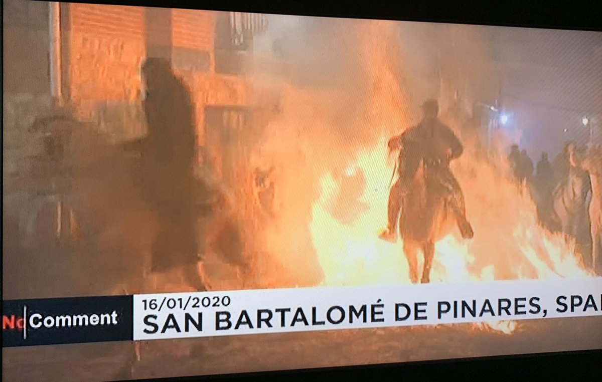 Why are Spainish so cruel to animals?Decided I will never visit again.#Spain #AnimalCruelty They make horses ride through fire and do terrible things to bulls, including burning them aliveBan #Bullfighting and torturing them. #Barbaric.Could our Queen tell the Spanish King?