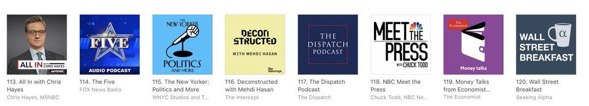 Nice. The fledgling @thedispatch podcast shooting up itunes rankings. podcasts.apple.com/us/podcast/epi…