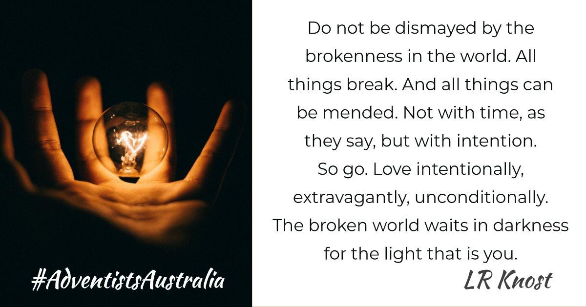#AdventistsAustralia #LoveIntentionally pic.twitter.com/dWJ3kyIYLA