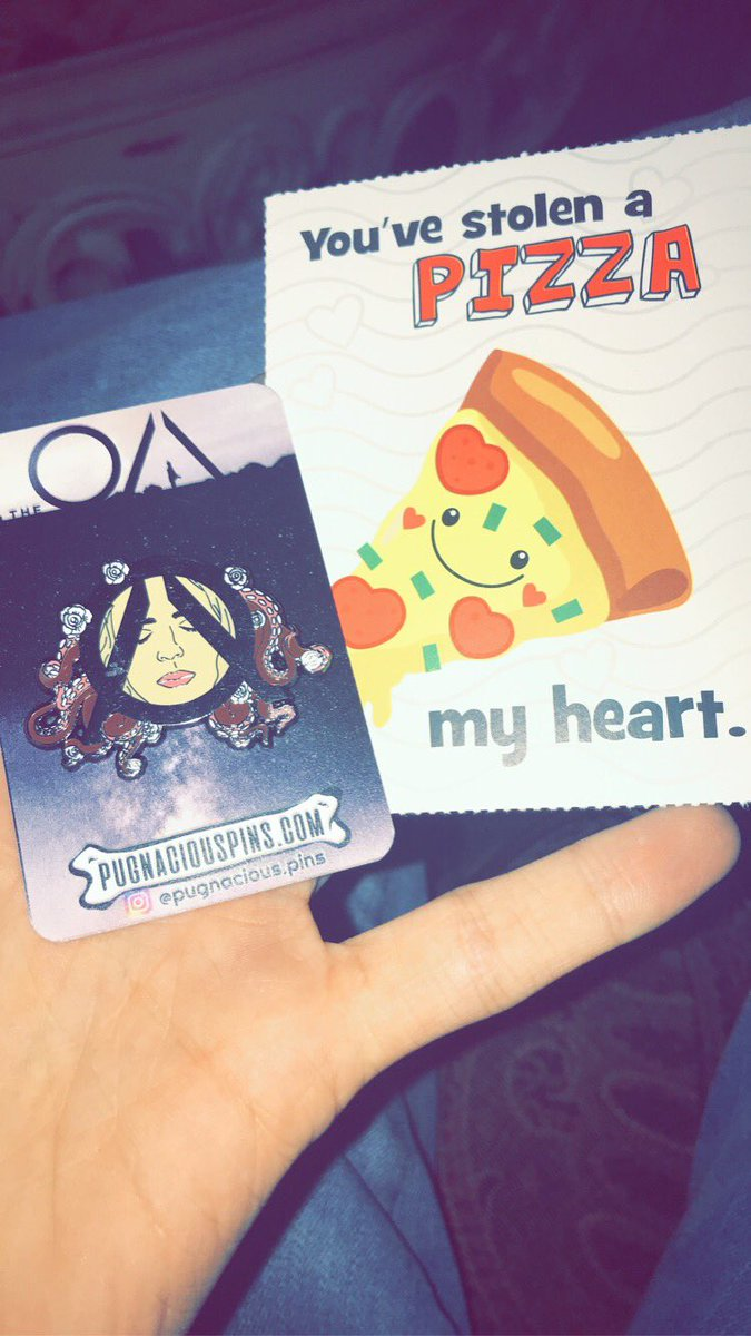 IT LOOKS SO GOOD! Seriously in love and came sooner than I expected. Also came with a cute Valentine's Day card. Thank you so much #TheOA  #SaveTheOA  #TheOAisReal  #PugnaciousPins  (IG:pugnacious.pins /  http://pugnaciouspins.com  )