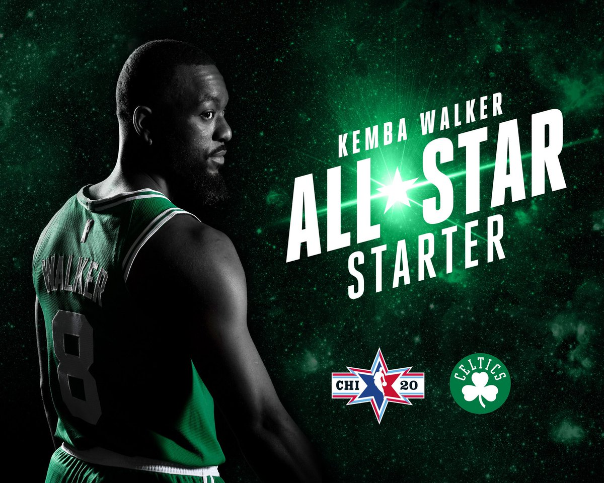 ⭐️ @KembaWalker IS A STARTER IN THE ALL-STAR GAME ⭐️   Congratulations Kemba!