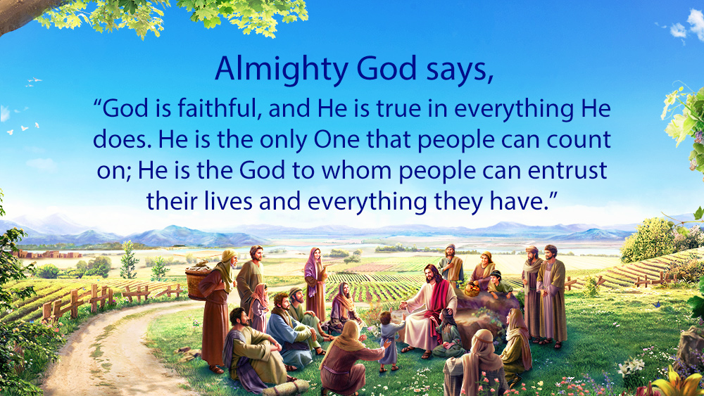 """Almighty God says, """"God is faithful and everything He does is real. He is the only One that people can count on and the God that people can entrust their lives and their all to."""" #KnowingGod #Jesus #truth #GodsWord #Christian #WorshipGod #Faithful  Read:  https://www. holyspiritspeaks.org/recital-god-hi mself-the-unique-vi-10-03/  …  <br>http://pic.twitter.com/TE2J0dAYCO"""
