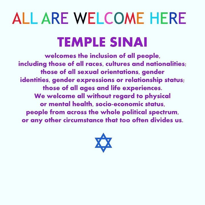 This is why I love my place of worship.  #equalrights #lgbtq #lgbtqrights #equalityforeveryone #proudtobejewishpic.twitter.com/aEb7gBDq4c