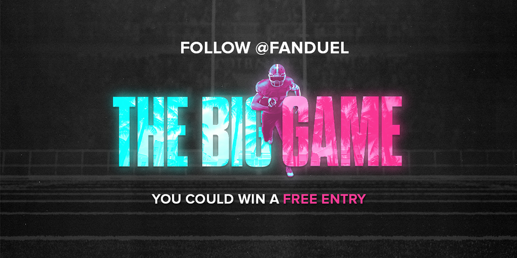 GIVEAWAY ALERT    Want to win a FREE entry into our NFL Big Game Bowl contest?   Here's how to do it:   RT this post  FOLLOW @FanDuel  REPLY with your FD Username   10 winners will be selected at random on 1/31.   Rules:  https:// go.aws/2GeQDIq    <br>http://pic.twitter.com/Pe7tLKWyNL