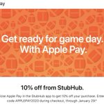 Image for the Tweet beginning: Apple Pay Promo Offers 10%