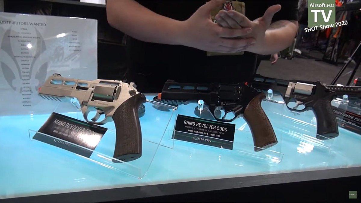 やっとチアッパライノのエアガンが出たか!台湾の偉剛(WG)が作ったらしい、これは期待できるね~ / Finally there's the airsoft version of Chiappa Rhino ! Seems manufactured By Taiwan's Win Gun, I'm definitely gonna get my hand on this.  #shotshow2020 #ChiappaRhino #チアッパライノ