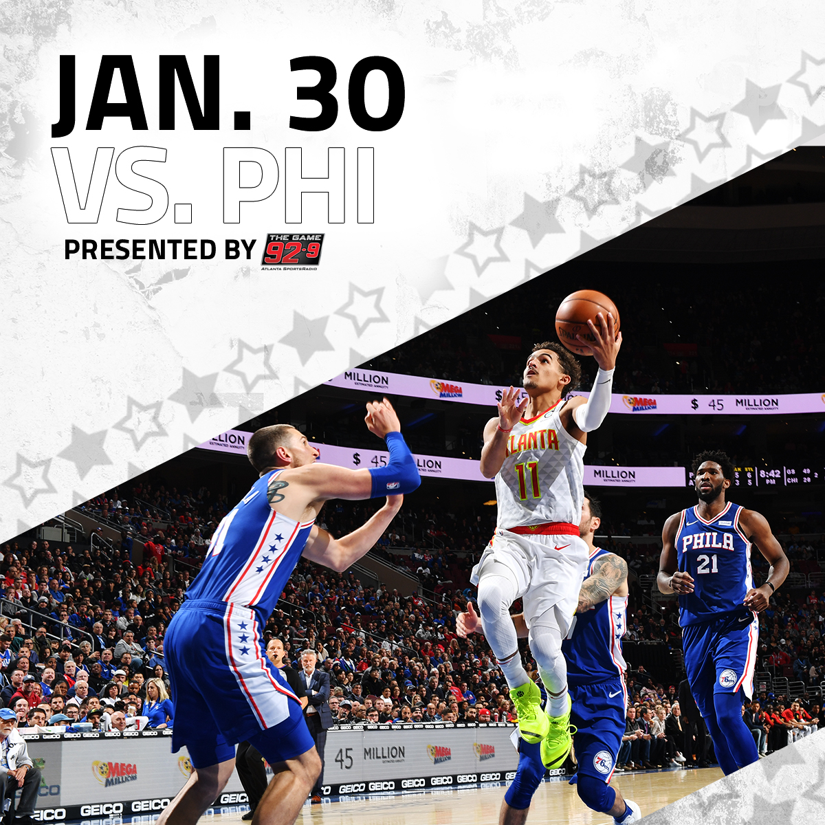 Join us as we take on the Sixers on Jan. 30th! (Presented by @929TheGame)   🎟️: http://bit.ly/38yA4TN