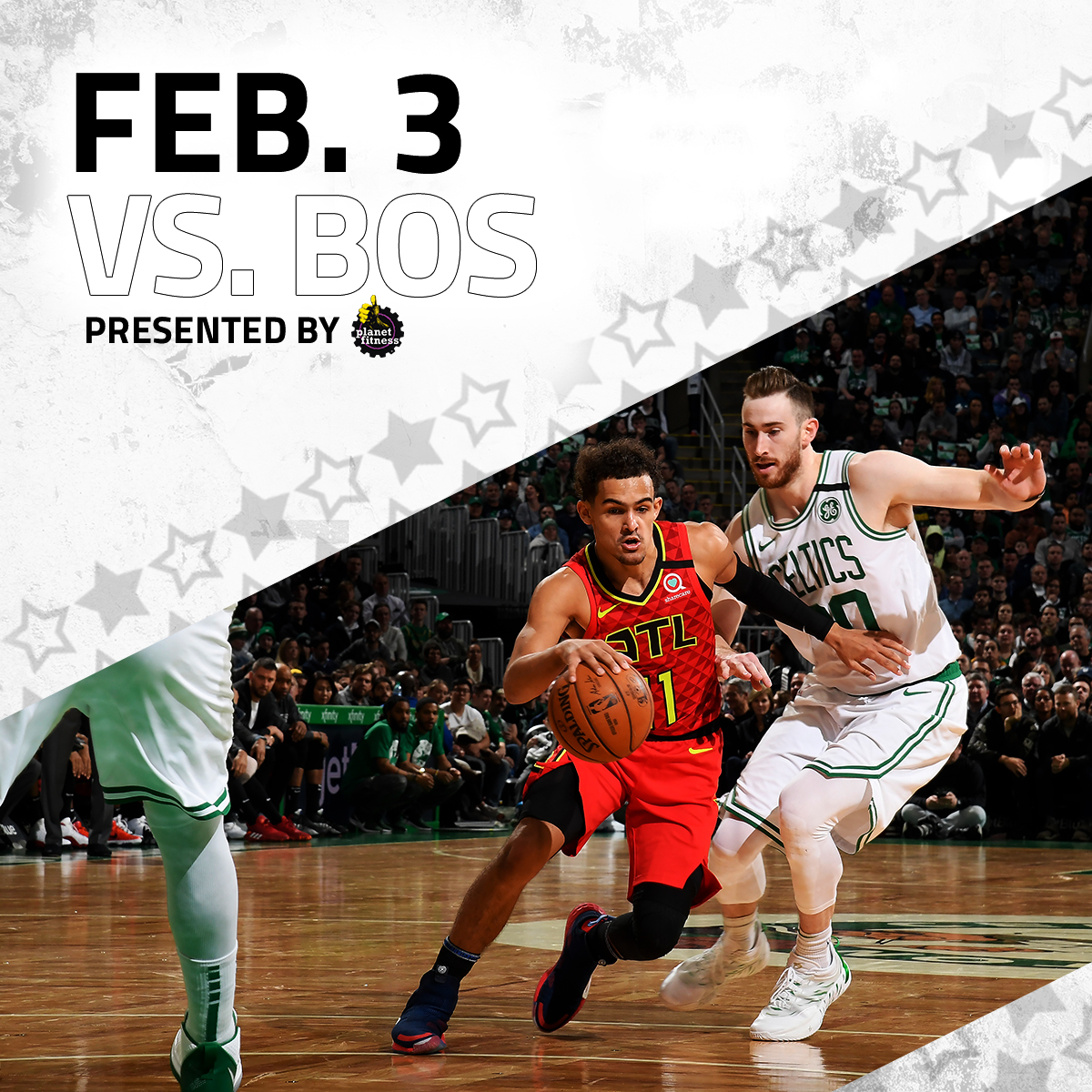Watch Ice Trae and the squad take on the Celtics before we head to Chi-Town! (Presented by @PlanetFitness)  🎟️: http://bit.ly/2vcI3aF
