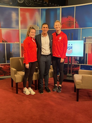 I loved my conversation with @USWNT players @roselavelle & @sammymewy - they are in town for  Olympic qualifying. My story is about to air on #ABC13