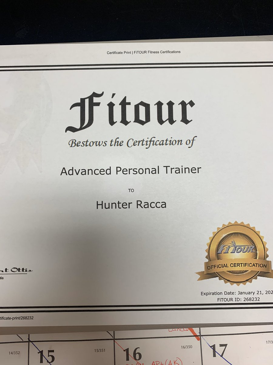 Recently I became a 'certified advanced trainer' and I'm looking forward to helping people be successful with reaching their physical goals. If you're interested in meeting your goals,DM me so we can get started. If you can, please retweet this it would be much appreciated <br>http://pic.twitter.com/viKyL1Wati