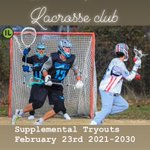 Image for the Tweet beginning: 302 Lacrosse Supplemental Tryout Feb