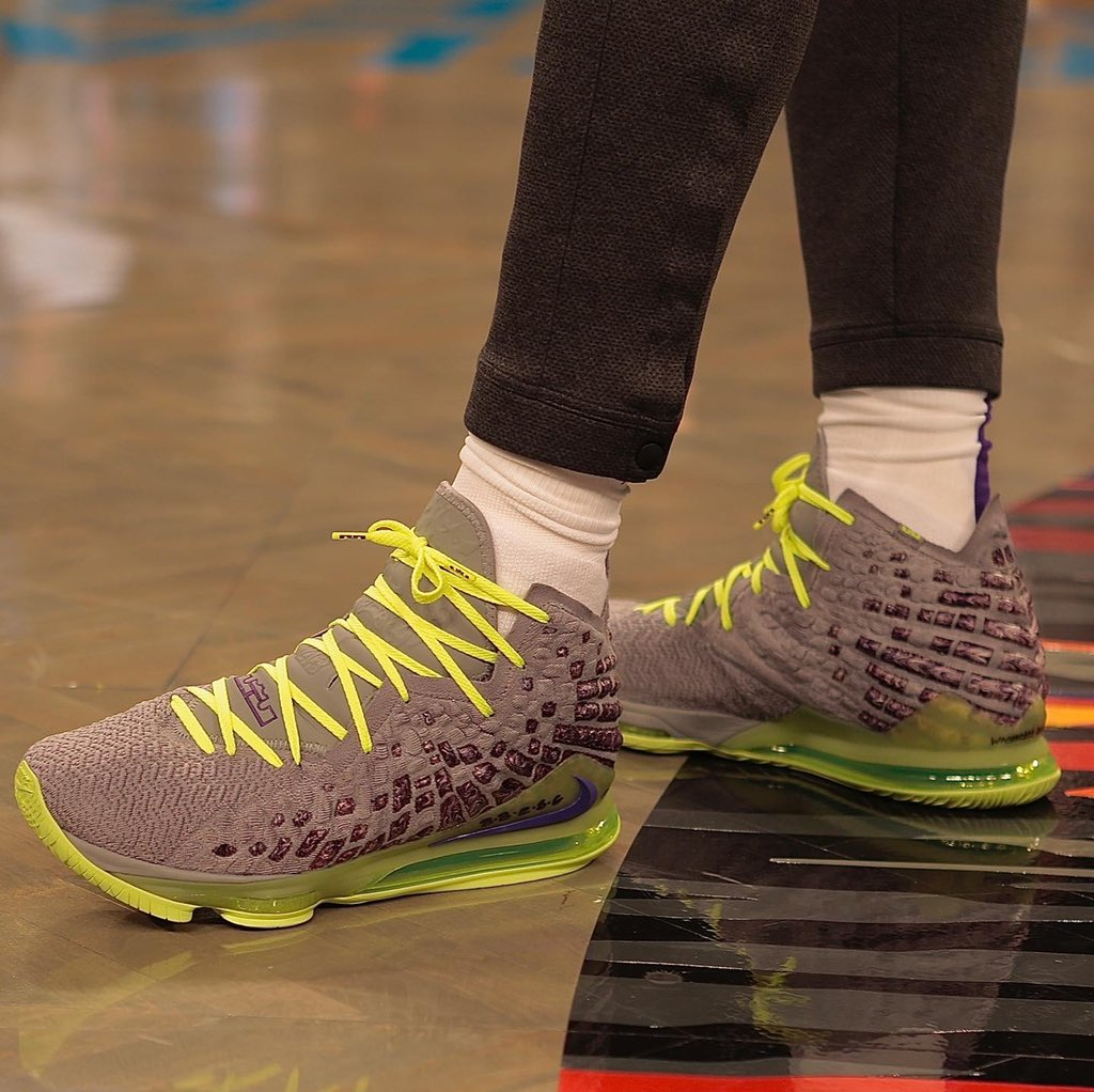 LeBron's Nike LeBron 17s in Brooklyn! #NBAKicks