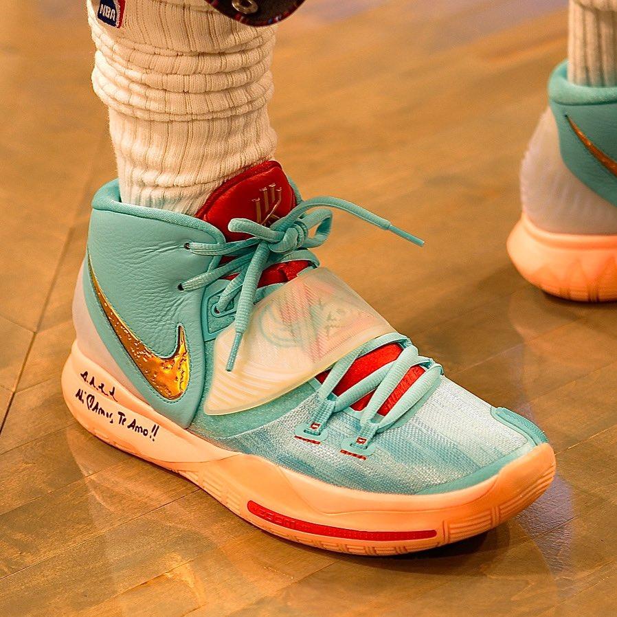 Kyrie's Nike Kyrie 6 at home! #NBAKicks