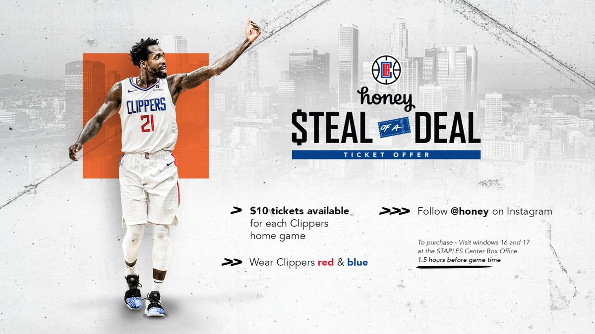 To all my followers in the Los Angeles and surrounding areas, the Clippers have a HECK of a deal to watch your favorite team play. #ClipperNation