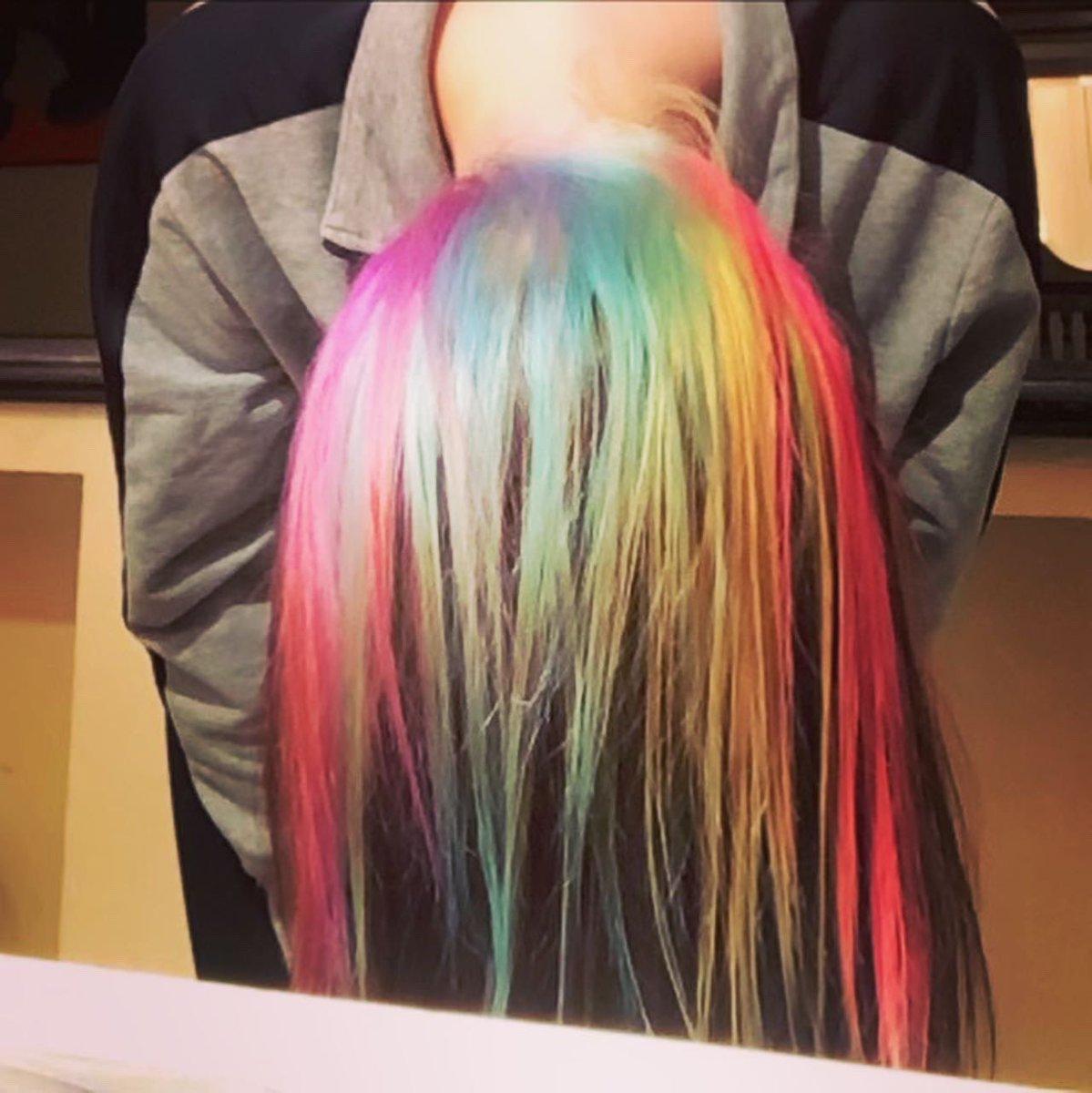 Rainbow!  #rainbow #HairLove <br>http://pic.twitter.com/d5vIVtIXF9