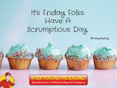 Dont you just love Fridays? Have a great day folks and eat cake! Why not! Enjoy your weekend and have fun! ❤️ #PolyPostalPackaging #earlybiz #FridayFeeling #atsocialmedia