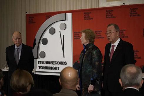 100秒後に死ぬ……人類滅亡までのカウントダウン「世界終末時計」の針が「残り100秒」に進み過去最短に 核の脅威と地球温暖化が影響  @itm_nlab