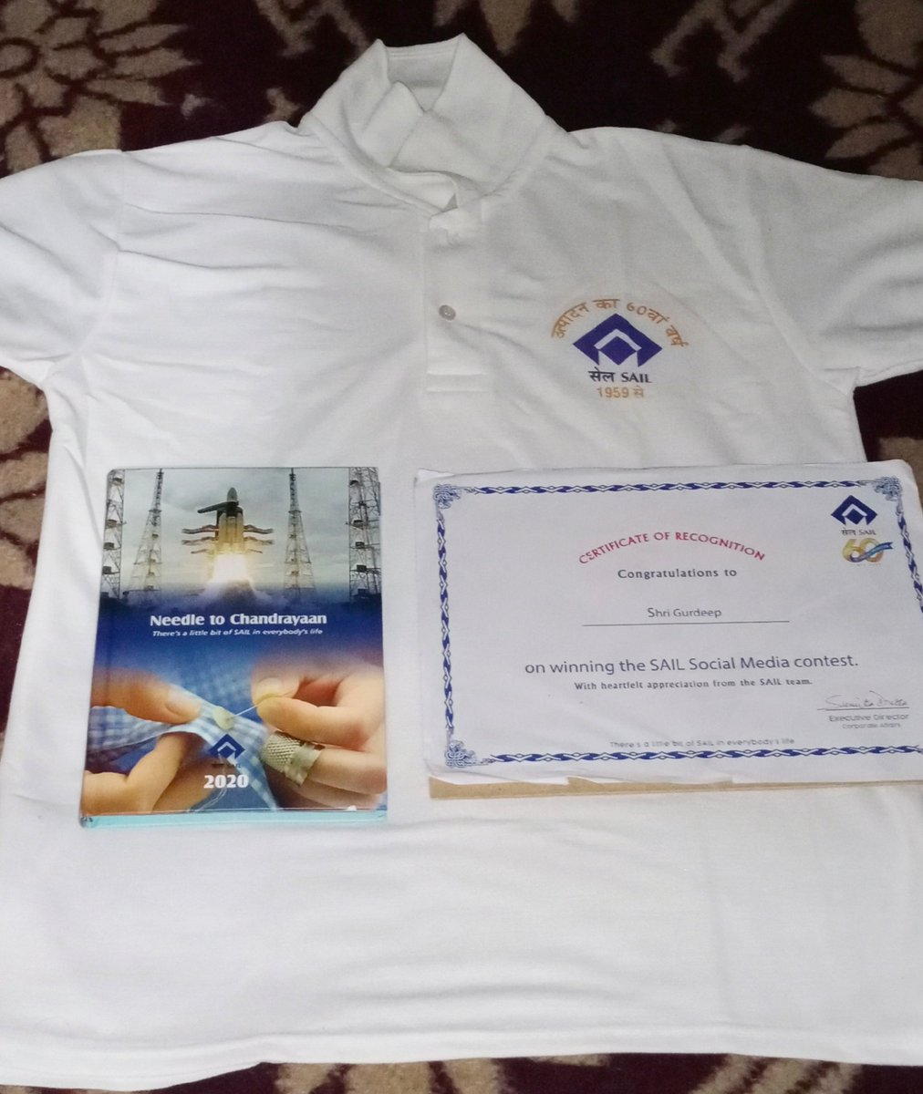 Thanks @SAILsteel For This Gift. Feeling proud after wear SAIL T shirt And also doing hard work for working in SAIL. #MySteelyStrength .   Thanks @india4contests