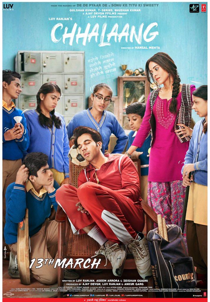 Good one !! 💕💫🌟🎉 #Chhalaang @RajkummarRao @NushratBharucha @mehtahansal @luv_ranjan @LuvFilms