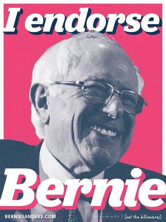 My hot take before bed: This is the chance of a lifetime y'all. We got one shot at this. Get your yard signs, bumper stickers, etc. Spread his name and face far and wide. Tell your friends, family, and coworkers. A better world really is possible. Let's do this! #IEndorseBernie<br>http://pic.twitter.com/dnrc32tgyR