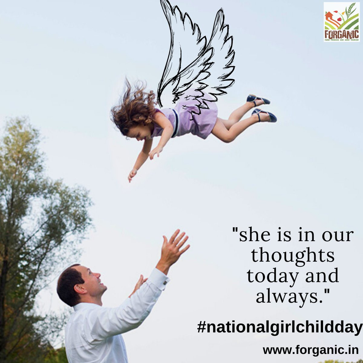 She is a dreamer, let her spread her wings! Happy National Girl Child Day https://t.co/nHkCBmHv2G . . #nationalgirlchildday #girlchild #education #women #girls #love #india #support #girlpower #awareness #Knowledge #Learning #forganicexperience #Forganic #Khopoli #mumbai #pune https://t.co/ZQHBpOx2Tu