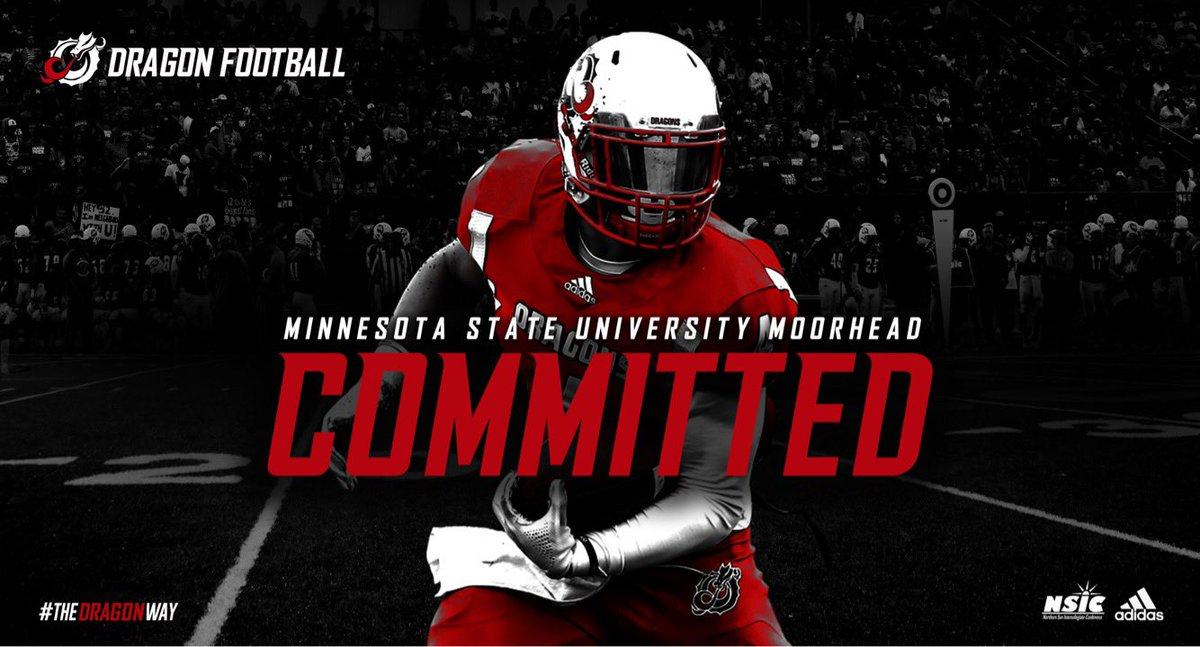 Proud to announce my commitment to continue my academic and football career at MSUM! Thanks to my family, friends and coaches who got me here! #GoDragons<br>http://pic.twitter.com/B0WV8IX9Yk