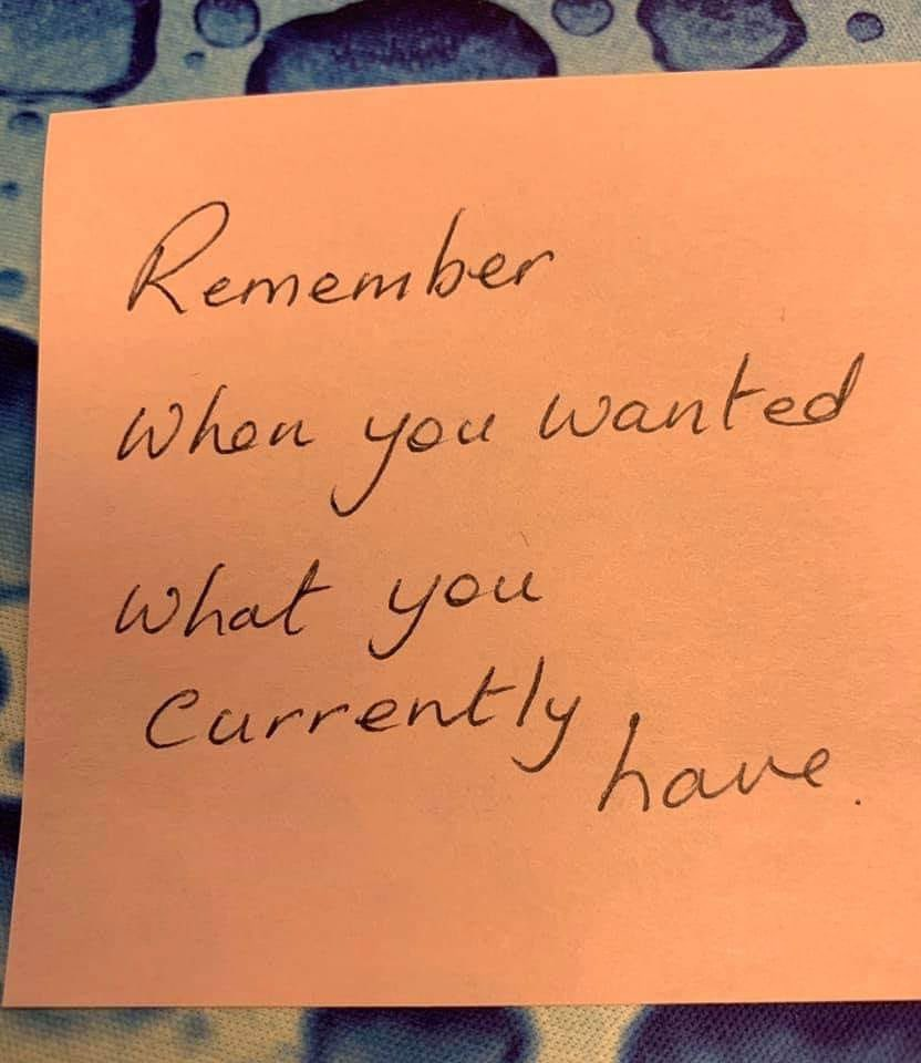 Sometimes all you need to reframe a rough patch in life is a sticky note.