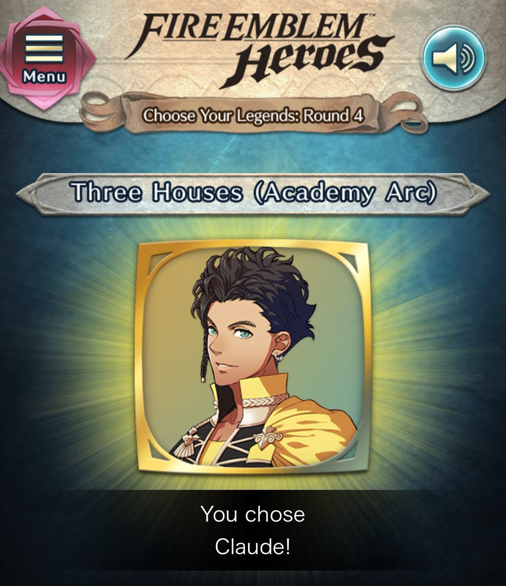 Choose your Legends 4 is still going voting. But we must vote Claude for the alt costume!! Do it for @JoeZieja #FearTheDeer #FEHeroes