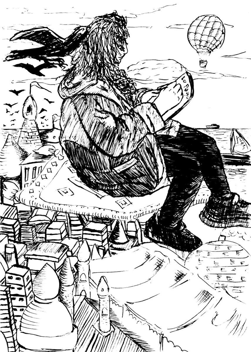 Tales adventure #3 #cadaverexquisito #pencilart #penart #kunst #illustration #drawing #bildendekunst #bilden #drawingstyle #drawingstyles #drawingstylechallenge #portrait #portraits #portraitsketch #cartoon #volar #flying #carpet #flyingcarpet #cityscape #cityscapes #surrealismpic.twitter.com/OHesV70cjd