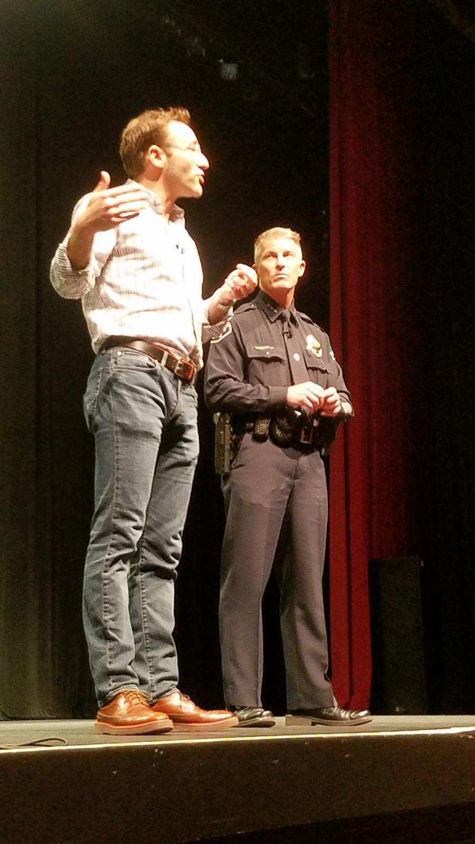 "Blue Courage on Twitter: ""Great Blue Courage day today with San Francisco PD! The day ended with Michael and Captain Hart opening a private session with Simon Sinek and #CastleRock police Chief"