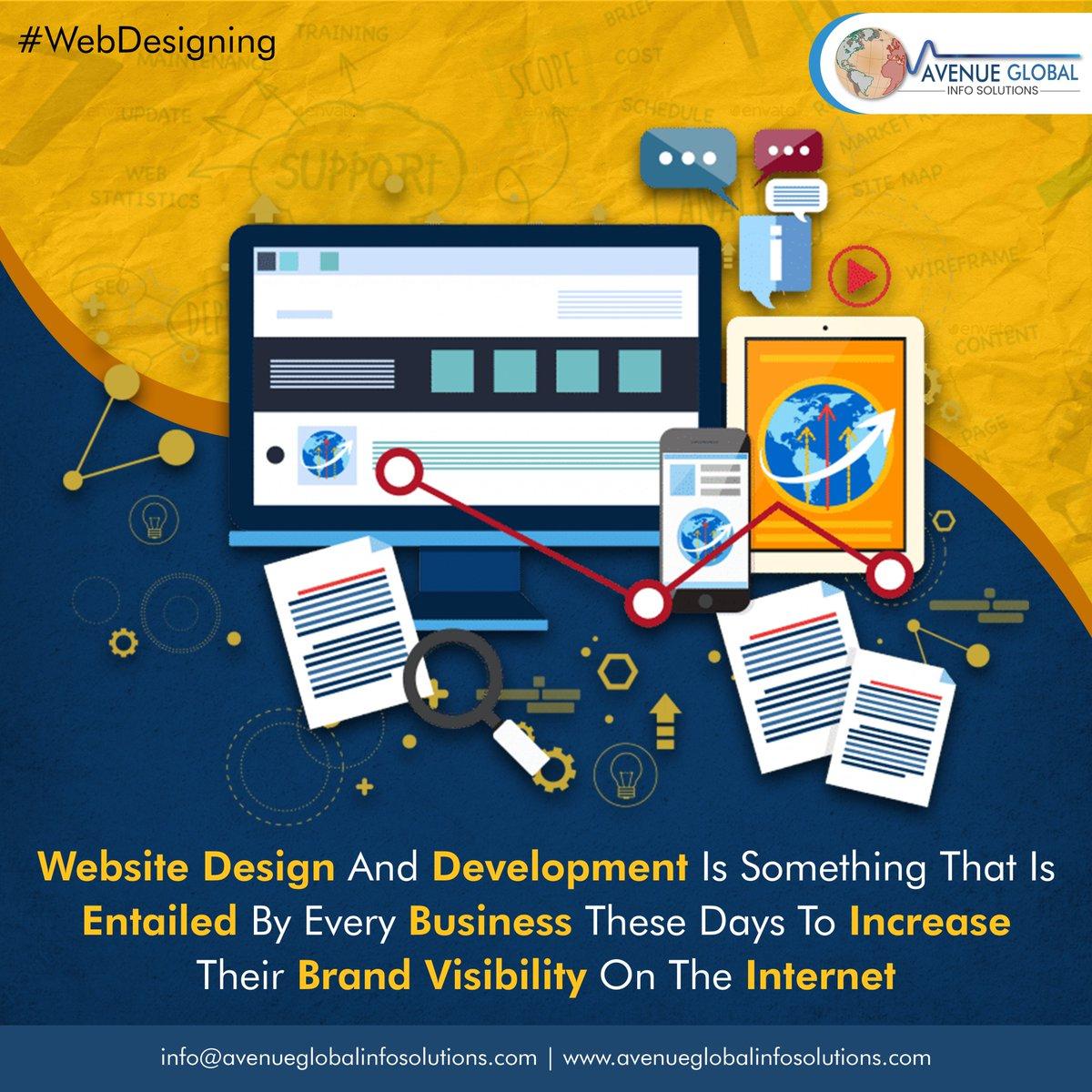 To Increase Brand Visibility on the Internet Every business needs a Website.  #webdesign #whywebdevelopment #webdesigncompany #websitedeveloper #webdesigntips #instatech #instatechno #Avenueglobalinfosolutions #avenueglobal #Webdesigning #Digitalmarketing #Websitedevelopmentpic.twitter.com/IhHAeRuFOz
