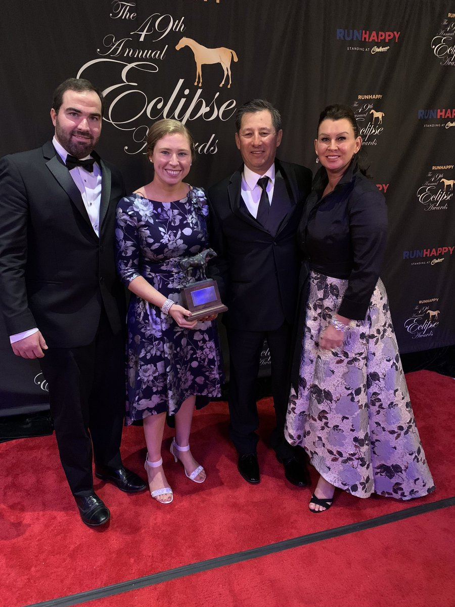 test Twitter Media - Proud of this team that helped make British Idiom into a 2YO Champion! Broken by @paulmsharp trained by @bradcoxracing owned by @stuartmgrant @dubbland Madaket. Ridden by @jjcjockey not pictured my partner @BradWeisbord so lucky to have the greatest team #backtobackEclipseAwards https://t.co/0tASO0c2xI