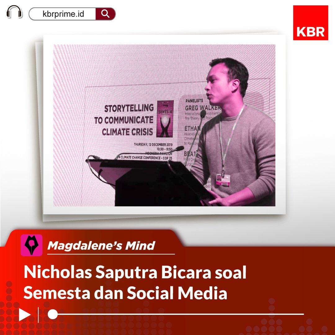 Mengapa Nicholas Saputra enggan unggah selfie di media sosialnya?  Seperti apa kecintaannya pada film & alam semesta?  Di podcast #MagdalenesMinds bersama @the_magdalene kami menguliknya  Bisa Anda dengarkan di #KBRPrime http://bit.ly/2NWPSI9  #PodcastIndonesia #NicholasSaputra pic.twitter.com/K1aD4KtSm4